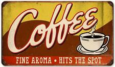 Vintage Retro Coffee Cup Shop Metal Sign Cafe Diner Restaurant Wall Decor RPC