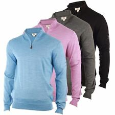 Cutter & Buck Merino Zip Neck Jumper Mens Sweater Golf Pullover