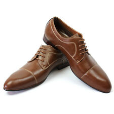 New Men's Brown Ferro Aldo Pointed Cap Toe Leather Lining Dress Shoes Modern NEW