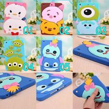 Cute Disney Cartoon Soft Silicone Case Cover for iPad 2/3/4 Air Air2 Mini 1 2 3