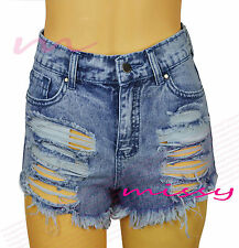 NEW Womens SHORTS DENIM HOT PANTS Ladies ripped Distressed Size 6 8 10 12 14 s