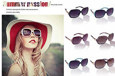 Women Men Retro Vintage Classic Aviator Eyewear Sunglasses Shades Oversized