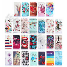 1×For Wiko Alcatel PU Leather Hybrid Rubber ID Card Slot Wallet Purse Case Cover