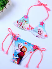 Disney Frozen Elsa & Anna Children Kids Girls Bikini Swimsuit Bathing Swim Wear