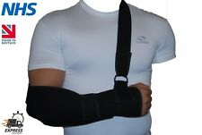 Black Padded Arm/Elbow/Shoulder Sling Support Splint Strap Pain Injury Arthritis