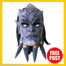 Adult Fancy Dress Costume RD Licensed DRAENEI World of Warcraft DLX Latex Mask