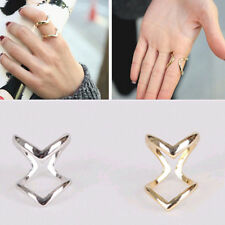 New Women's Double V Alloy Plated Cute Open Ring Charms Adjustable Jewelry