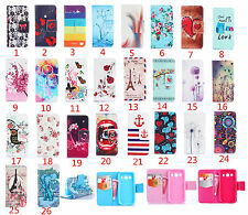 Newest Cute pattern wallet Flip Leather case cover for various LG  NOKIA
