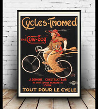 Cycles Tnomed , Vintage Cycling advertising poster reproduction.