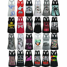 Womens California Republic Racer Back Tank Top Shirts