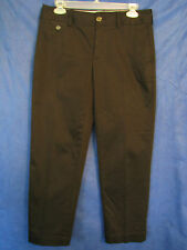 BANANA REPUBLIC Black Sateen CROPPED PANTS CAPRIS Stretch SZ 6 Mint Condition!