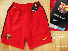 S M L XL XXL BARCELONA NIKE AWAY 2014 DRI-FIT Football Shorts Soccer Calcio NEW