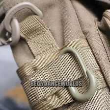 2X LOCKING U-CLIP U-RING CARABINER KEY CHAIN BUCKLE MOLLE WEBBING BACKPACK TOOL