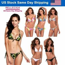 Sexy Women Bikini Suit Swimwear Lady Bra Swimsuit Bathing Beach Dress Push Up