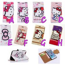 Angel Hello Kitty Bow PU Leather Stand Case String Cover for iPhone 6 4.7'' 5.5""