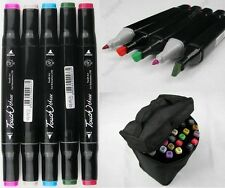 Touch three 6 12 24 36 48 60 162 Color Set Sketch Marker Pen Bag Manga Twin Tip