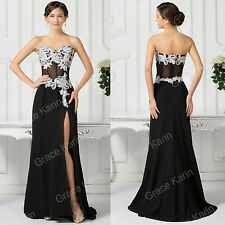 BLACK 2015 Evening BEADED Bridesmaid Dresses Long Prom Dresses Formal Party Gown