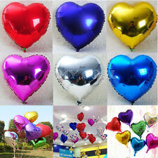 "10pcs 10"" Heart Foil Helium Balloons Wedding Birthday Party Engagement Decor"