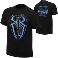New Men's WWE Roman Reigns Logo Black T Shirt 100% Cotton