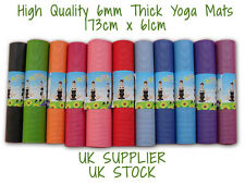 Yoga Mat PVC Thick Exercise Fitness Physio Pilates Gym Mats Non Slip TRADE PRICE
