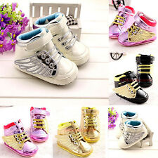 Baby Boy Girl Crib Unisex Shoes Sneaker Toddler Infant Newborn-18 Months #BU41