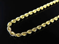 Solid 10K Yellow Gold Mens/ Ladies 2.5 MM Rope/Franco Chain Necklace 16-24 inche