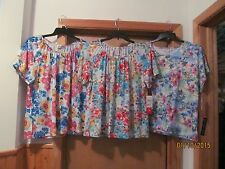 Short Sleeve Blouses Cathy Daniels Multi Floral many size and color