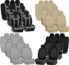 PREMIUM DOUBLE STITCHED SEAT COVERS BUCKET BENCH SEAT COVERS BELT PADS FOR VANS
