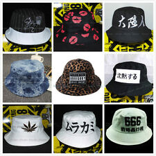 Vintage Unisex Mens Womens Bucket Hat Cotton Fishing Hunting Cap Many Styles