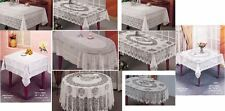 Vinyl Table Cloth Wipe Clean Home Decor Cover Embossed Protector Woven Dining