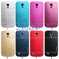 Brushed Metal Back Hard Cover Case For Samsung Galaxy S4 Mini i9190