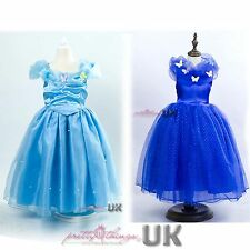 UK Girls Cinderella Classic Princess Cosplay Costume Party Fancy Dress