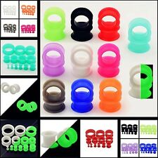 Silicone Ear Skins Gauges Soft Ear Plug Expander Tunnels-Soft Flesh Tunnels Pair