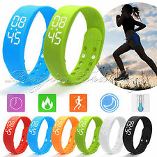 3D Pedometer Smart Wrist Watch Bracelet Walking Calorie Counter Tracker Sport