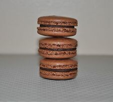 12 Chocolate  French Macarons Almond Cookies  ,Chewy Sweet delicious