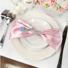 New Square Satin Wedding Party Dinner Table Napkin Cloth Handkerchief Hanky 20""