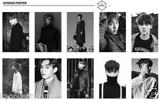 EXO - EXODUS Official Poster UNFOLDED in a Hard Tube [Choose Members]