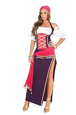 Gypsy Maiden 5pc costume - halter top, skirt, sash, head scarf and bracelets