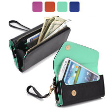 Fad Bicast Leather Protective Wallet Case Clutch Cover for Smart-Phones MLUB18