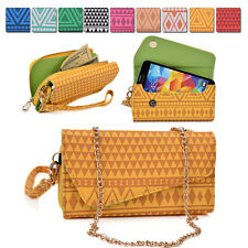 Tribal Protective Wallet Case Cover & Crossbody Clutch for Smart-Phones MLUC15