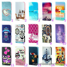 Cartoon Soft TPU Wallet Stand PU Leather Flip Case Cover For Samsung LG Sony HTC