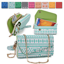 Aztec Protective Wallet Case Cover & Crossbody Clutch for Smart-Phones XLUC3