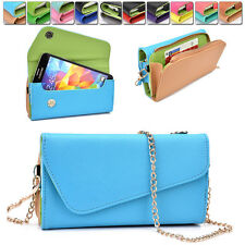 Womens PU Leather Wallet Case Cover & Crossbody Clutch for Smart-Phones MLUB17