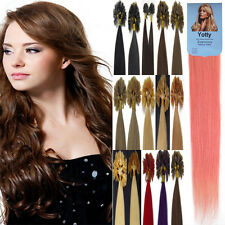 Pre Bonded Keratin Nail U Tip 100% Brazilian Remy Human Hair Extensions 22Inch