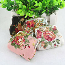 New Fashion Lady Women Girl Small Purse Coin Wallet Flower Bag Holiday Handbags