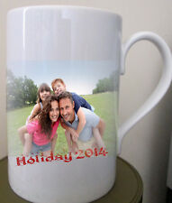 Personalised Porcelain Mug Add your photo text design Birthday Mothers Day Gift