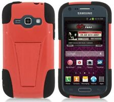 RED & BLACK T-Stand Cover Case for Samsung Galaxy Ring / Prevail 2 II SPH-M840