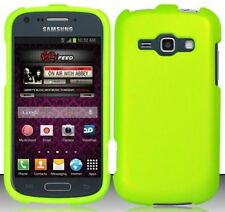 NEON GREEN Snap-On Cover for Samsung Galaxy Ring / Prevail 2 II SPH-M840