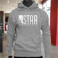 The Flash DC Barry Allen Laboratories Star Labs Mens Gray Hoodie