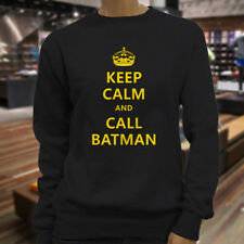 Chive Funny Keep Calm and call Batman Womens Black Sweatshirt